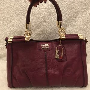 Coach Madison burgundy pinnacle satchel